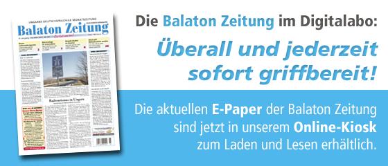Digital Abonnement der Balaton Zeitung
