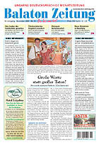 Balaton Zeitung Cover November 2007