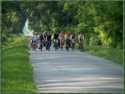 Rad fahren in der Gegend um den Hubertushof