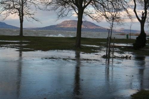 Überschwemmungen am Balaton