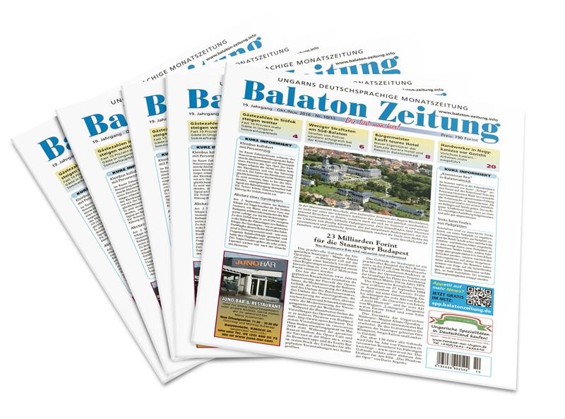 Balaton Zeitung - Ausgabe 10-11/2016