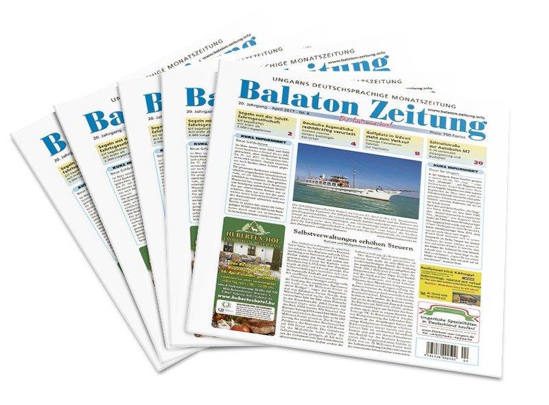 Balaton-Zeitung - April 2017 - Selbstverwaltungen erhöhen Steuern