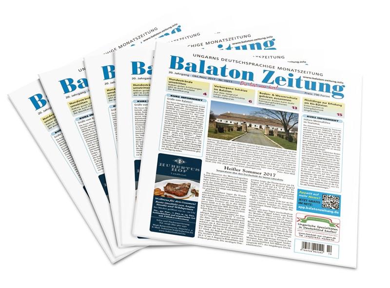Balaton Zeitung Oktober/November 2017 - Heißer Sommer 2017