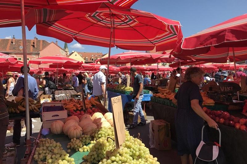 Der beliebte Dolac-Markt in Zabgreb, Foto: Sebastian Starke