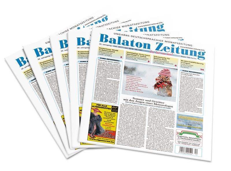 Balaton Zeitung Dezember 2017 Januar 2018 - Sommer und Gewitter mit den Augen eines Meteorologen