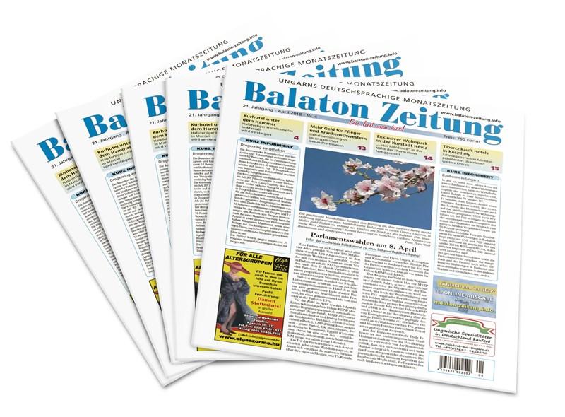 Balaton Zeitung Ausgabe April 2018 - Parlamentswahlen am 8. April 2018