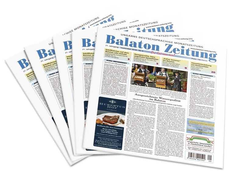 Balaton Zeitung - Ausgabe September 2018 - Ausgezeichnete Wasserqualität im Balaton