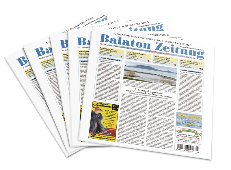 Balaton Zeitung Februar März 2019 - 5-Sterne-Luxushotel und Villenpark in Balatonszemes
