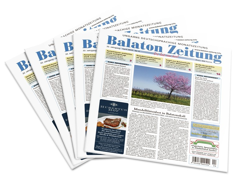 Balaton Zeitung April 2019 - Mandelblütenfest in Balatonakali