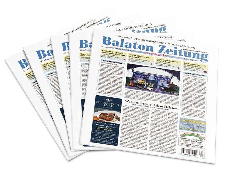 Balaton Zeitun Mai 2019 - Wassertouren auf dem Balaton