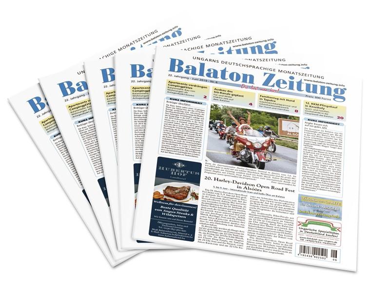Balaton Zeitung Juni 2019 - 20. Harley-Davidson Open Road Fest in Alsóörs