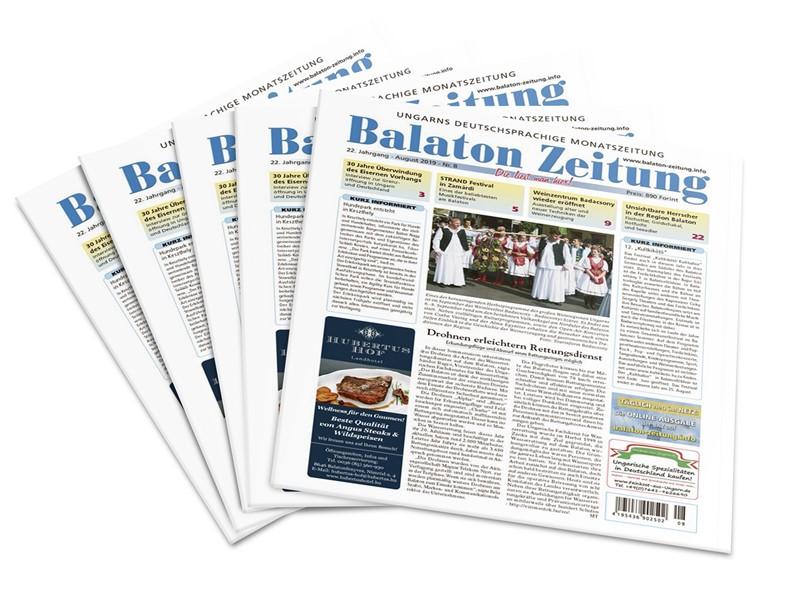 Balaton Zeitung August 2019 - Blaue Flagge weht in 16 Strandbädern des Balaton