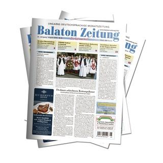 """Balaton Zeitung August 2019 - """"Blaue Flagge"""" weht in 16 Strandbädern des Balaton"""