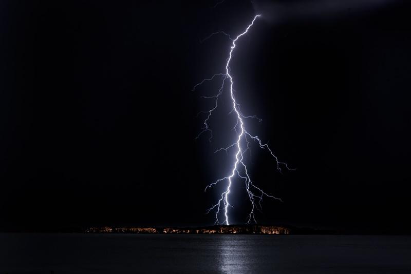 Nächtliches Gewitter und schlechtes Wetter am Balaton
