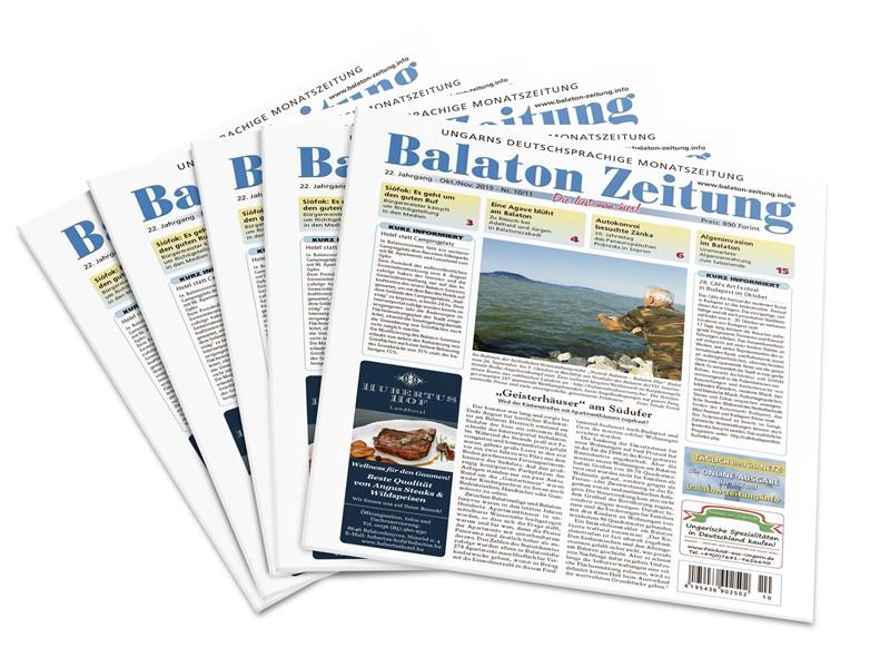 """Balaton Zeitung Oktober November 2019 - """"Geisterhäuser"""" am Südufer"""