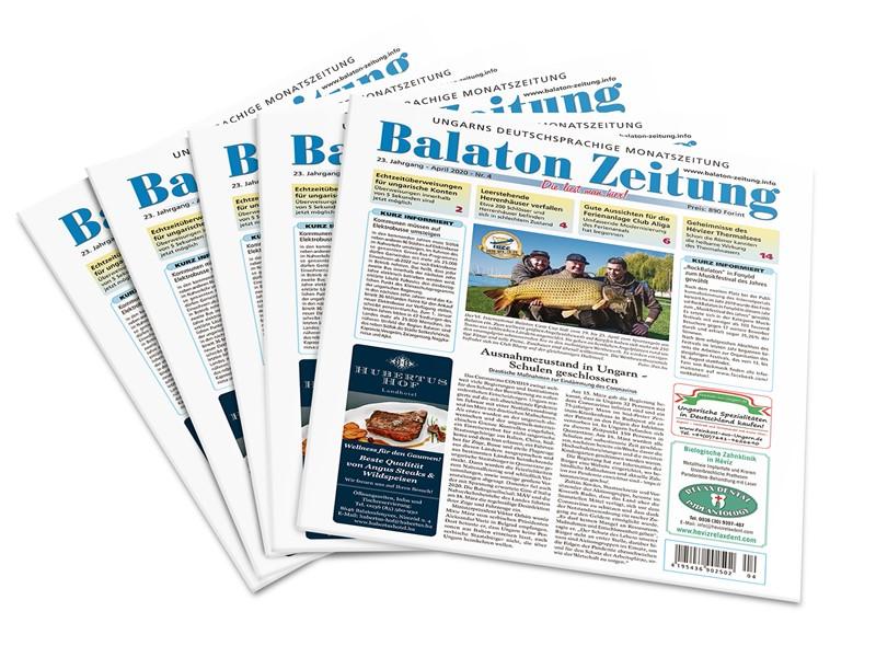 Balaton Zeitung - April 2020 - Ausnahmezustand in Ungarn - Schulen geschlossen