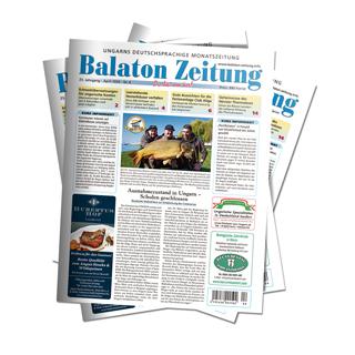 Balaton Zeitung - April 2020 - Ausnahmezustand in Ungarn