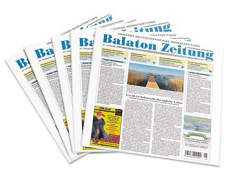 Balaton Zeitung Mai 2020 - Covid-19 beherrscht das tägliche Leben