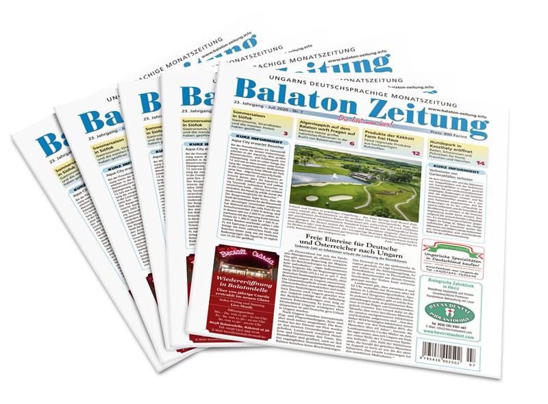 Balaton Zeitung - Juli 2020 - Freie Einreise für Deutsche und Österreicher nach Ungarn