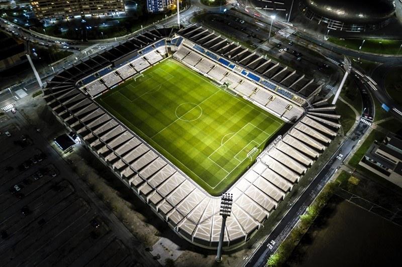 Fußballstadion von oben