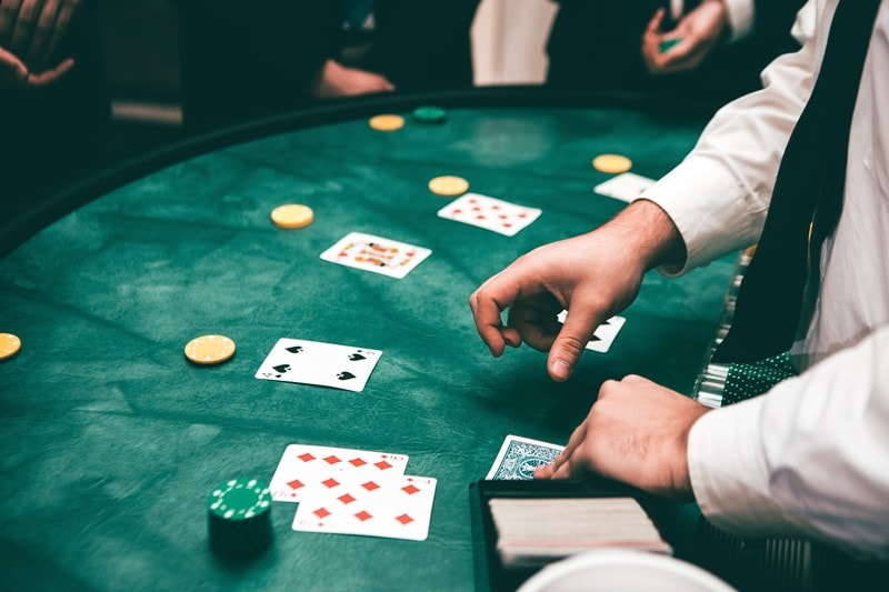 Blackjack in einer Spielbank