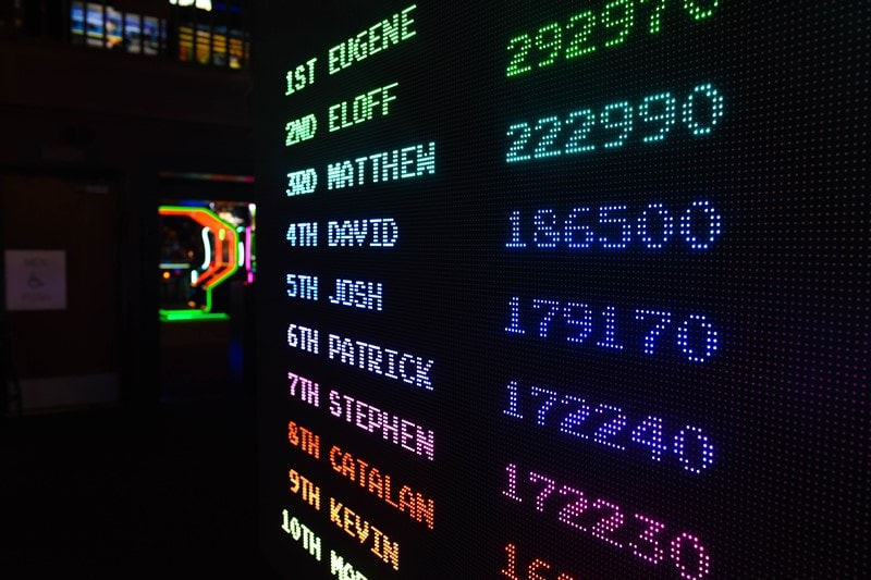 LED-Bildschirm mit Game Scores