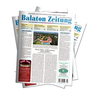 Cover Balaton Zeitung August 2021