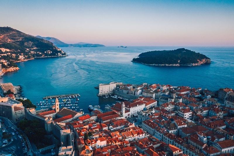 alte kroatische Hafenstadt