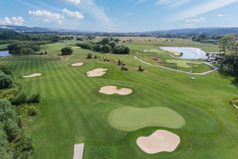 Der Golfplatz von Zala Springs von oben