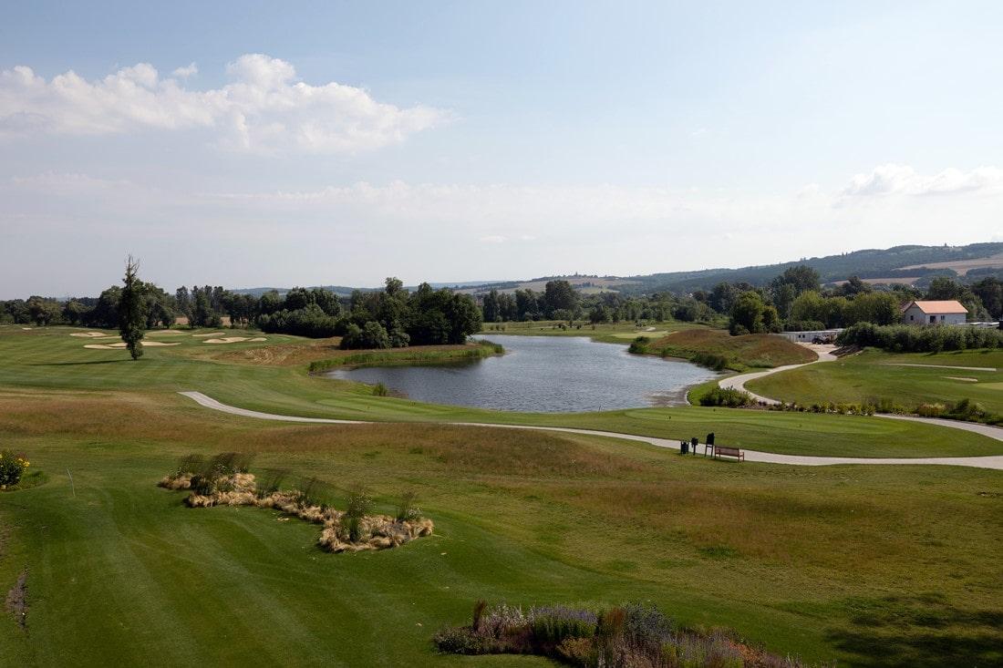 Blick auf Zala Springs Golfkurs